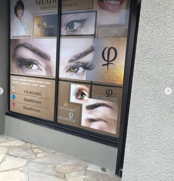 VINYL Sign For Makeup Studio North York, ON